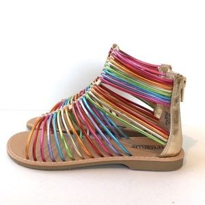 ✨3 for $30✨Rainbow Toddler Girls Sandals size 7!